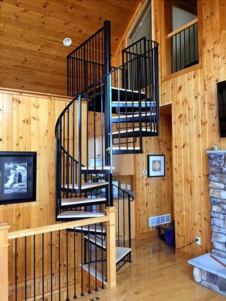 Spiral Merdiven modelleri, çeşitleri, örnekleri.
