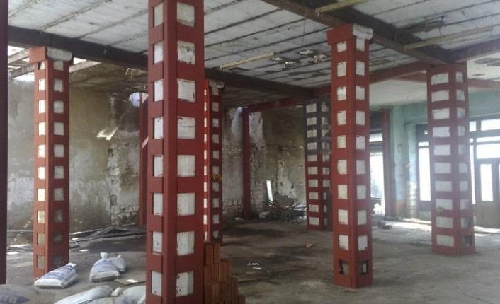Çelik kolon güçlendirme, çelik yapı güçlendirme, çelik güçlendirme projesi.