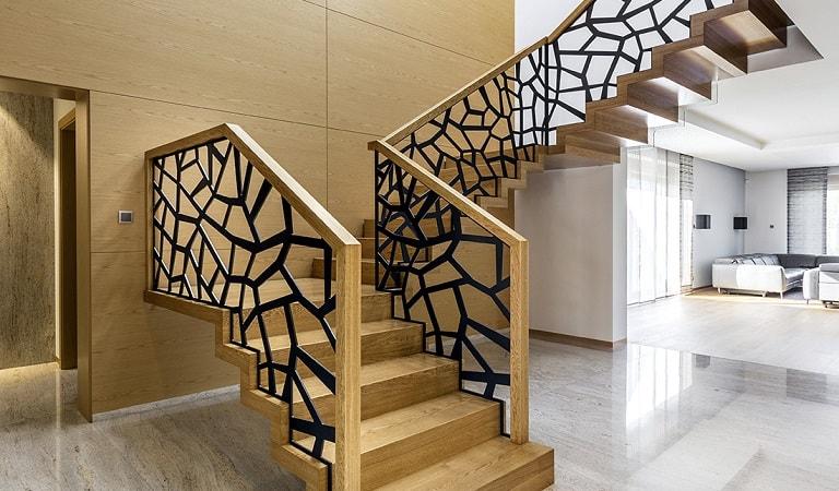 CNC kesim merdiven korkulukları, lazer kesim merdiven korkuluğu.