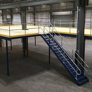 Çelik platform, steel platform.